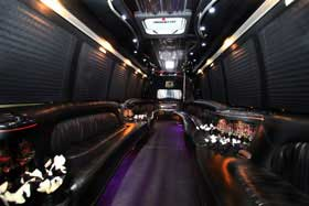 24 Passenger Limo Bus Limo Service in Delaware County PENNSYLVANIA