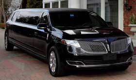 Lincoln MKT Black Limousine Limo Service in Disney World FLORIDA