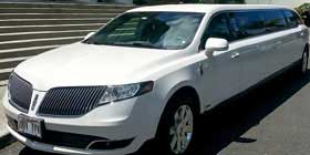 Lincoln MKT White Limousine Limo Service in Irvine CALIFORNIA