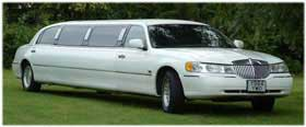 White Stretch Limousine Limo Service in Disney World FLORIDA