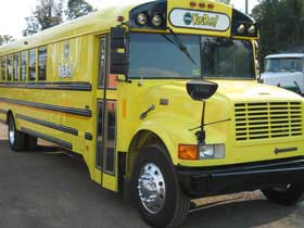 Yellow School Bus Limo Service in Disney World FLORIDA